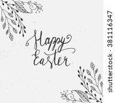 easter hand drawn lettering... | Shutterstock .eps vector #381116347
