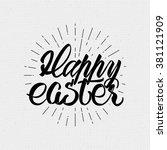 happy easter   typographic... | Shutterstock .eps vector #381121909