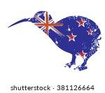 new zealand national flag  ... | Shutterstock .eps vector #381126664
