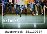 network networking connection... | Shutterstock . vector #381130339