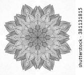 mandala. round ornament pattern. | Shutterstock .eps vector #381131815