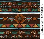decorative bright ethnic... | Shutterstock .eps vector #381131875