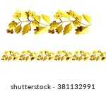 golden  ornamental segment for... | Shutterstock . vector #381132991