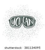 winter typography poster design ... | Shutterstock .eps vector #381134095