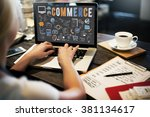 commerce business marketing... | Shutterstock . vector #381134617