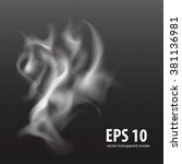 white smooth smoke effect... | Shutterstock .eps vector #381136981