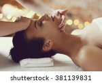 leisure. woman in spa salon | Shutterstock . vector #381139831