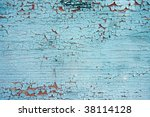old cracked color on door - stock photo