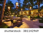 portrtait of beautiful outdoor... | Shutterstock . vector #381142969