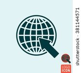 website icon. earth globe with...