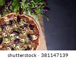Italian Pizza And Spring Salad...