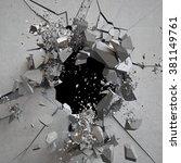 Explosion  Cracked Concrete...