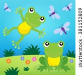frog thematic image 2   eps10... | Shutterstock .eps vector #381152809