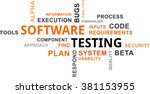 a word cloud of software... | Shutterstock .eps vector #381153955