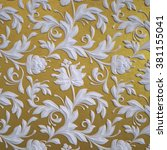 Abstract Gold Floral Wallpaper...