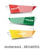 red  green  yellow glossy... | Shutterstock .eps vector #381160531