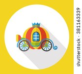 fairy tale carriage | Shutterstock .eps vector #381163339