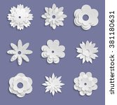 Paper Origami Flowers On Viole...