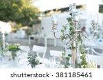 prodigious wedding decorations... | Shutterstock . vector #381185461