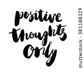 positive thought only vector... | Shutterstock .eps vector #381188329