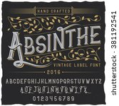 absinthe label font and sample...