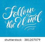 modern calligraphy... | Shutterstock .eps vector #381207079