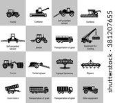 vector black agricultural...   Shutterstock .eps vector #381207655