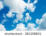 blue sky background with white...   Shutterstock . vector #381208831