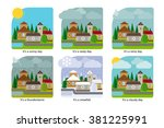 weather in the town | Shutterstock . vector #381225991