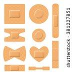set of medical plasters.... | Shutterstock .eps vector #381227851