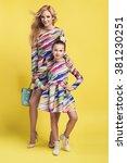 fashion woman and a pretty... | Shutterstock . vector #381230251
