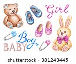 Baby Shower Isolated Design...