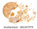 crumbs of biscuit texture... | Shutterstock . vector #381247579