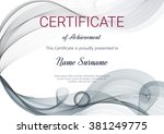 certificate or diploma template.... | Shutterstock .eps vector #381249775