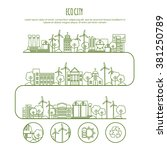 ecology city infographic... | Shutterstock .eps vector #381250789