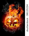 burning pumpkin   Shutterstock . vector #38125234