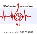 heart in a musical clef with...