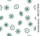 microbes seamless vector...   Shutterstock .eps vector #381257845