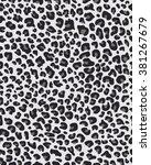 seamless jaguar skin texture ... | Shutterstock .eps vector #381267679
