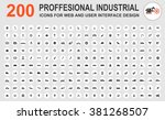 professional industrial icons... | Shutterstock .eps vector #381268507