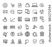 e commerce icons  | Shutterstock .eps vector #381272554