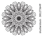 adult coloring page. mandala... | Shutterstock .eps vector #381273649