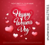 women's day design. 8 march... | Shutterstock .eps vector #381275311