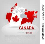 vector map of canada on the... | Shutterstock .eps vector #381276049