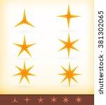 collection of vector golden... | Shutterstock .eps vector #381302065
