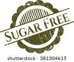 sugar free rubber stamp with... | Shutterstock .eps vector #381304615