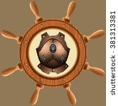 icon old pirate cuirass on...   Shutterstock .eps vector #381313381
