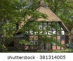old village houses in... | Shutterstock . vector #381314005