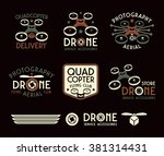 drone or quadrocopter set of...   Shutterstock .eps vector #381314431