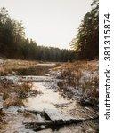 winter river | Shutterstock . vector #381315874